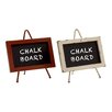 Woodland Imports Supremely Cool Metal Wood Chalkboard (Set of 2)