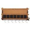 Woodland Imports Simply Useful Wood Metal Wall Hook