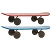 Woodland Imports Simply Lovely Metal Skate Shelf (Set of 2)