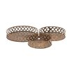 Woodland Imports 3 Piece Rustic and Simple Metal Tray Set