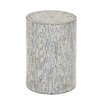 Woodland Imports Cool in Mosaic Wood Inlay Stool