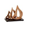 Woodland Imports Artistically Distinctive Aluminum Wood Sailboat Sculpture