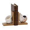 Woodland Imports Elegant Shell Book Ends (Set of 2)