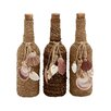 Woodland Imports 3 Piece Glass Stopper Decorative Bottle Set
