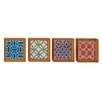 Woodland Imports 4 Piece Exclusive Wood Wall Décor Set