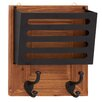 <strong>Shiny Polished Wood Metal Wall Letter Holder</strong> by Woodland Imports