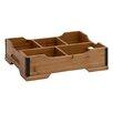 Woodland Imports Classy Styled Patterned Wood Storage Tray