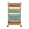 Woodland Imports Colorful & Lovely Serving Cart