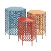 Woodland Imports Bright and Beautiful 3 Piece End Table Set