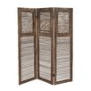 """Woodland Imports 72"""" x 57"""" Classy Wood 3 Panel Room Divider"""