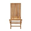 Woodland Imports Portable and Useful Wood Teak Folding Chair