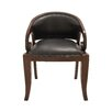 <strong>Superior Wood Teak Leather Arm Chair</strong> by Woodland Imports