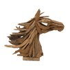 Woodland Imports Artistic and Gorgeous Wood Teak Horse Head