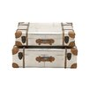 Woodland Imports 2 Piece Smart Patterned Wood Aluminum Attache Case