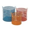 Woodland Imports 3 Piece Unique and Matchless Metal Basket Set