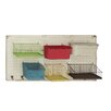 Woodland Imports Bright and Colorful Metal Wall Rack