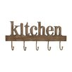 Woodland Imports Purpose Wood Metal Kitchen Wall Hook