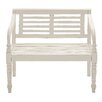 Woodland Imports Lovely and Comfortable Wood Garden Bench