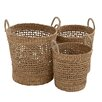 Woodland Imports 3 Piece Most Useful Seagrass Basket Set