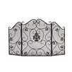 Woodland Imports Metal 3 Panel Fireplace Screen