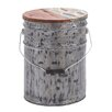 Woodland Imports Ornamented Bucket with Lid Sculpture