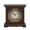 <strong>Woodland Imports</strong> Retro Style Wooden Table Clock