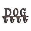 """Woodland Imports Aluminum """"Dog"""" Wall Hook"""