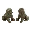 <strong>Woodland Imports</strong> Ceramic Chinese Lion Figurine (Set of 2)