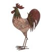 <strong>American Contemporary Metal Rooster Statue</strong> by Woodland Imports