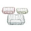 Woodland Imports 3 Piece Hand Crafted Metal Wire Basket Set