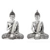 <strong>Polystone Spiritual Sitting Buddha Statue (Set of 2)</strong> by Woodland Imports