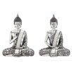 Woodland Imports Polystone Spiritual Sitting Buddha Statue (Set of 2)