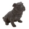 <strong>Woodland Imports</strong> Antique Polystone Sitting Bulldog Statue
