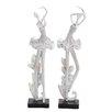 Woodland Imports 2 Piece Texas Duple Lass Dancing Décor Statue Set
