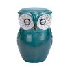 <strong>Woodland Imports</strong> Ceramic Owl Shaped Stool