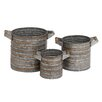 <strong>Woodland Imports</strong> 3 Piece Round Planter Set
