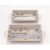<strong>2 Piece Rectangular Serving Tray Set</strong> by Woodland Imports