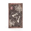Woodland Imports Butterfly Themed Wooden Vinyl Wall Hook
