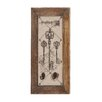 Woodland Imports Postcard with Key Design Antique Wall Hook Décor