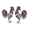 <strong>Woodland Imports</strong> Metal Rooster Décor Statue (Set of 2)