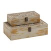 <strong>Woodland Imports</strong> 2 Piece Storage Box Set