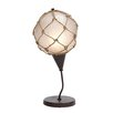 "Woodland Imports Fishing Net 19"" H Table Lamp with Oval Shade"