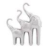 Woodland Imports Ceramic Trio Elephant Home Decor Figurine