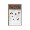 """<strong>American Cowboy Themed Wooden Note 2' 4"""" x 1' 6"""" Bulletin Board</strong> by Woodland Imports"""