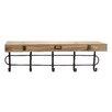 Woodland Imports Metal & Wood Wall Shelf Hooks
