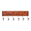 "Woodland Imports ""Believe In Love"" Metal Wall Hooks"