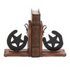Woodland Imports Cowboy Themed Classy Wood and Metal Horse Shoe Book Ends (Set of 2)