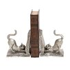 <strong>Woodland Imports</strong> Adorable Silvery Shiny Cat Book Ends (Set of 2)
