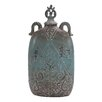 Woodland Imports Ceramic Decorative Flat Jar with Lid