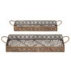 Woodland Imports 2 Piece Afghanis Serving Tray Set